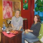Diane Beacham and artist